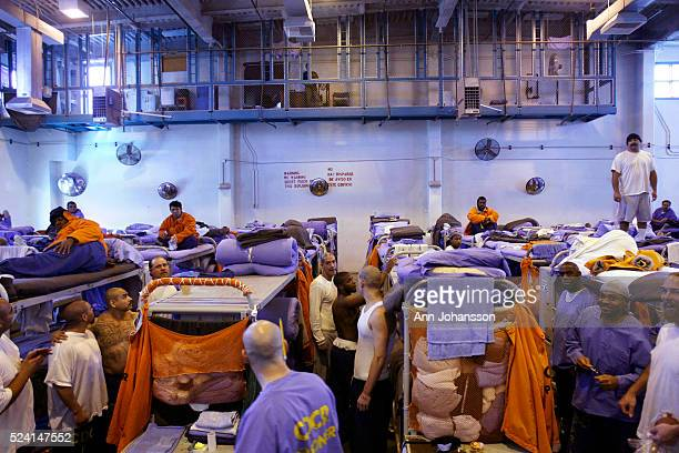 147 inmates are housed in the gymnasium because of over crowding at California State Prison LA County in Lancaster February 17 2010