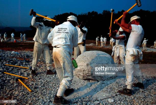 Inmates at the State Penitentiary Limestone Correctional Center Limestone Alabama August 1995 They are required to work on the chaingang The...