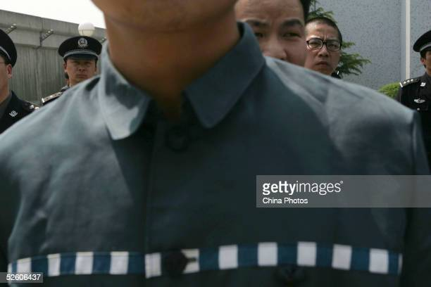 Inmates attend a psychological training and consultation session at Qingpu Prison on April 8 2005 in Shanghai China China has carried out prison...
