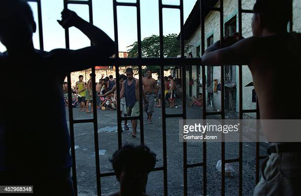 Inmates from Batang City Jail gang, which has over 600 members and is one of four gangs at Manila City Jail. The jail was built for 800 prisoners by...