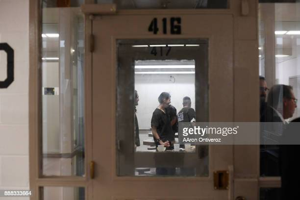 Inmates in cellblock 4D hang out during their free time at the Pueblo County Detention Center on Wednesday December 6 2017 The jail which is...