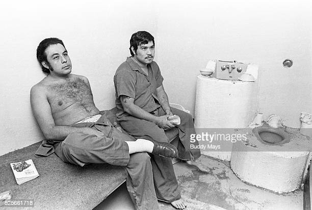 Inmates in overcrowded cells at the New Mexico State Prison near Santa Fe in 1979