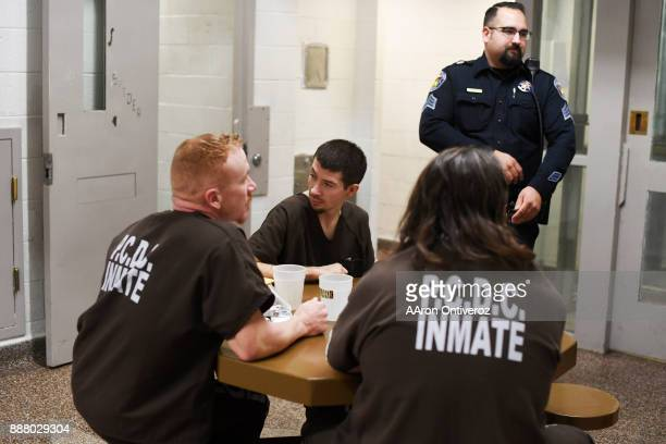 Inmates John Austin Dominic Duran and Sonny Sanchez speak about the conditions at the Pueblo County Detention Center on Wednesday December 6 2017 The...
