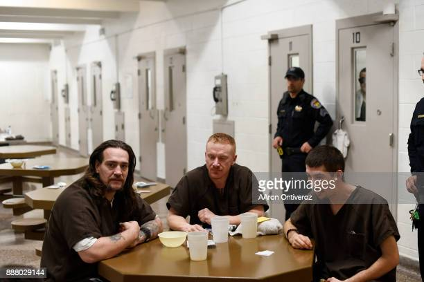 Inmates Sonny Sanchez John Austin and Dominic Duran speak about the conditions at the Pueblo County Detention Center on Wednesday December 6 2017 The...