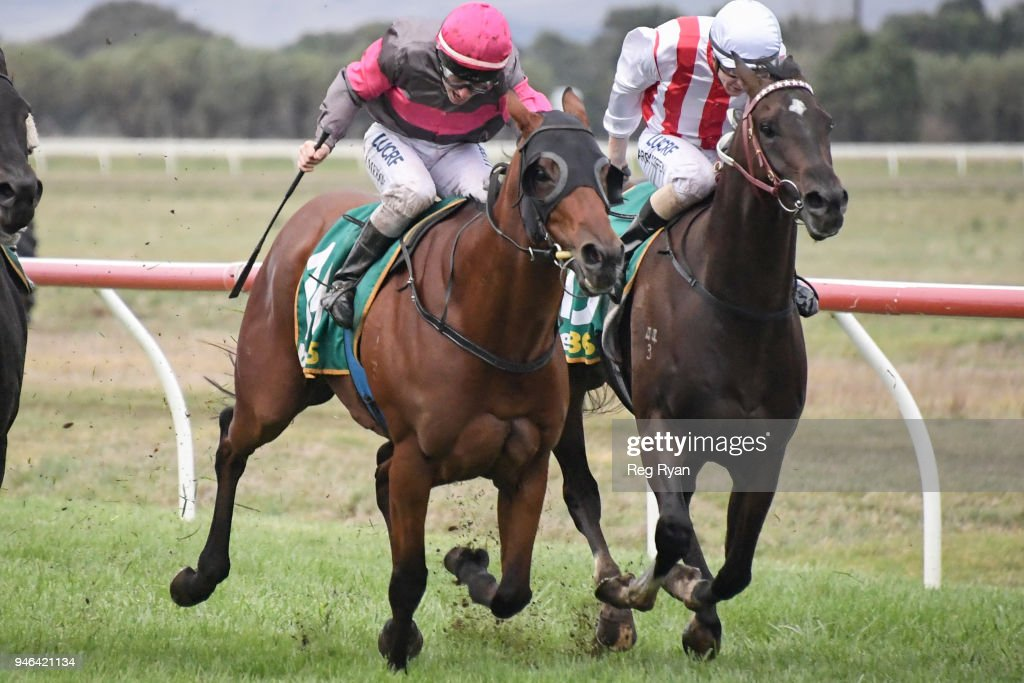 Inn Keeper ridden by Linda Meech wins the Westmeath BM78 Handicap at Terang Racecourse on April 15, 2018 in Terang, Australia.