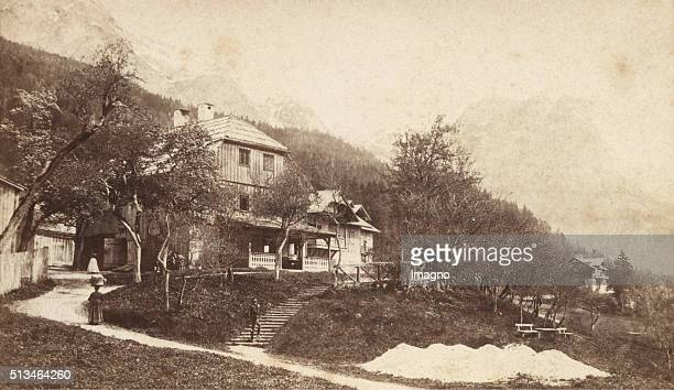 Inn Schraml At Grundlsee 1881 Carte De Visite Photograph By W Rthle Spinnhirn