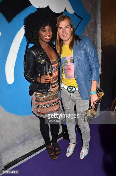 Inna Modja and Christophe Guillarme attend the Escada 'Factory' Party at Avenue Montaigne on October 20, 2011 Paris, France.