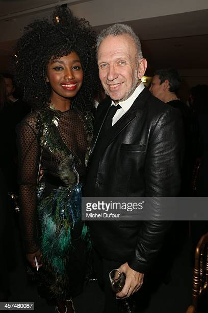 Inna Modja and Jean Paul Gaultier attend the Annual Charity Dinner Hosted By The AEM Association Children Of The World For Rwanda on December 17 2013...