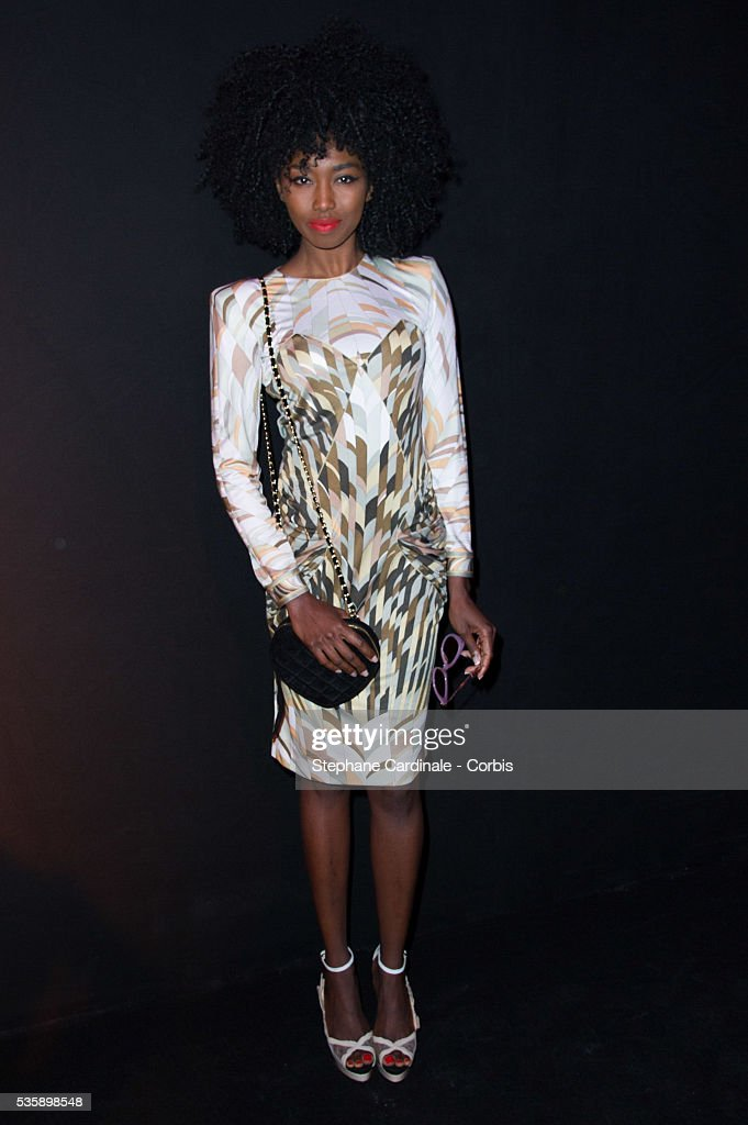 Inna Modja attends Leonard show, as part of the Paris Fashion Week Womenswear Spring/Summer 2014, in Paris.