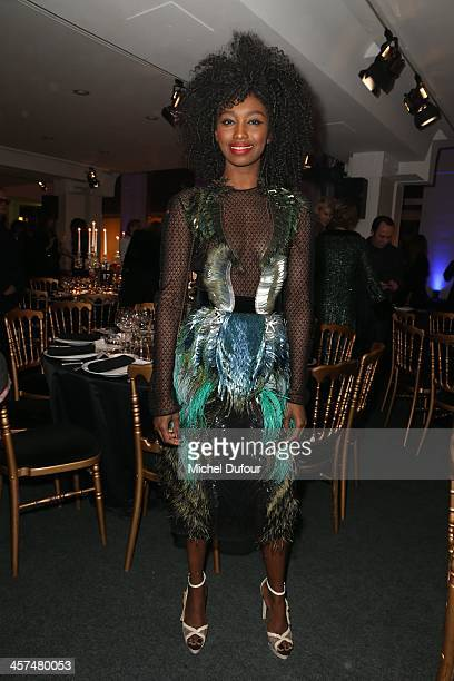 Inna Modja attends the Annual Charity Dinner Hosted By The AEM Association Children Of The World For Rwanda on December 17 2013 in Paris France