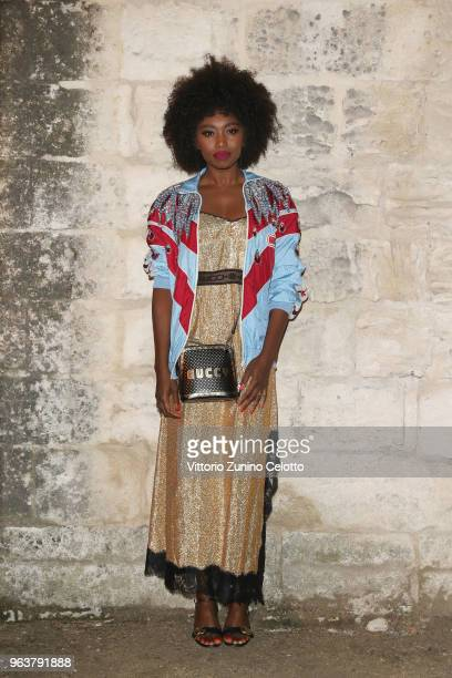 Inna Modja attends the Gucci Cruise 2019 show at Alyscamps on May 30 2018 in Arles France