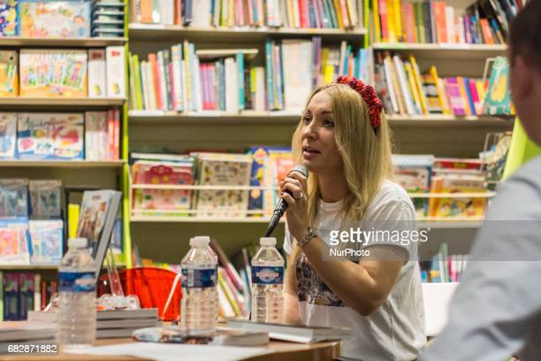 Inna Shevchenko during a conference about the Femen's book quotRebéllionquot on May 13 in Lyon France