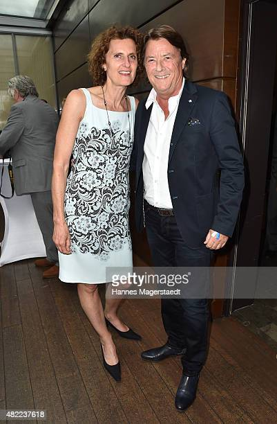 Innegrit Volkhardt and Georg Dingler attend the summer party at Hotel Bayerischer Hof on July 28 2015 in Munich Germany