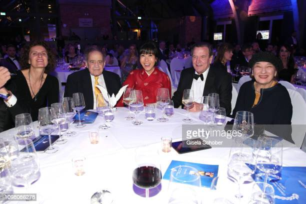 Innegrit Volkhardt, Arthur Cohn, Soyeon Schroeder-Kim, Gerhard Schroeder, Naomi Cohn during the Cinema for Peace Gala at the Westhafen Event &...