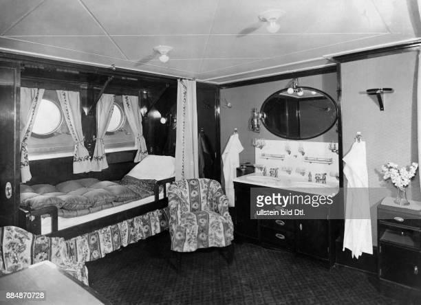 Innenansicht einer Kabine der 1 Klasse auf dem deutschen Linienschiff Originalaufnahme im Archiv von ullstein bild