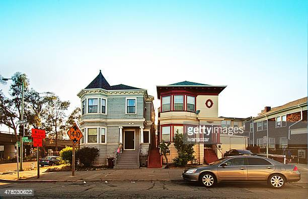 inner city housing in oakland, california - oakland california stock pictures, royalty-free photos & images