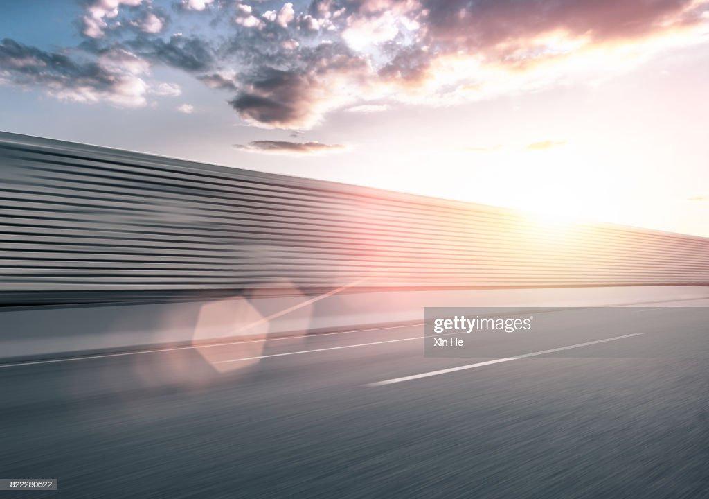 Inner City Road in Motion : Stock Photo