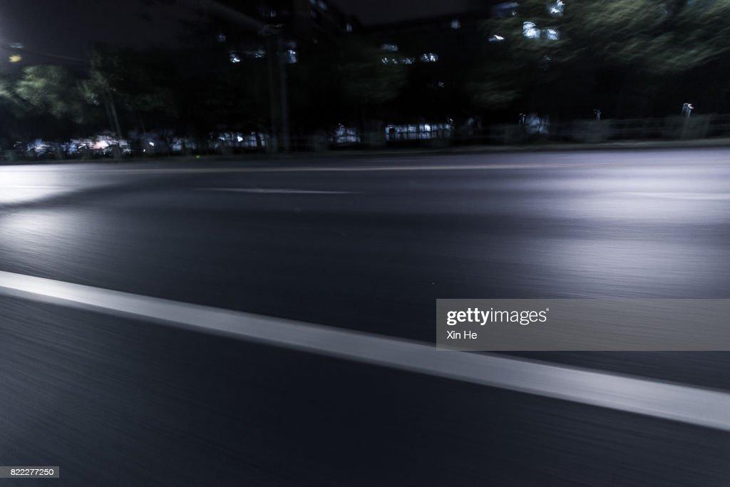 Inner city street at night : Stock Photo