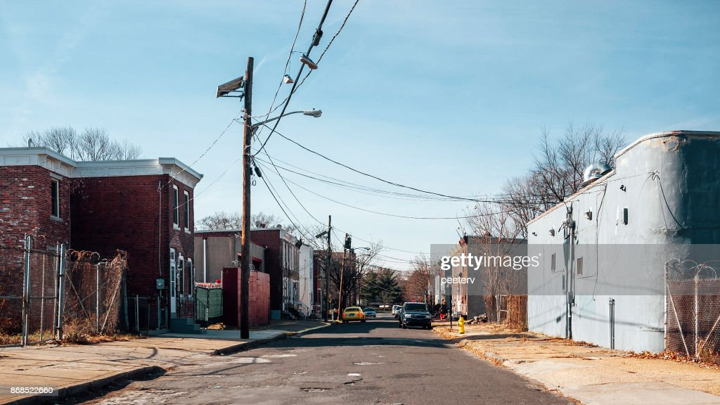 Inner city streets - Camden, NJ : Stock Photo
