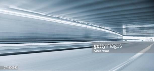 inner city tunnel - empty road stock pictures, royalty-free photos & images