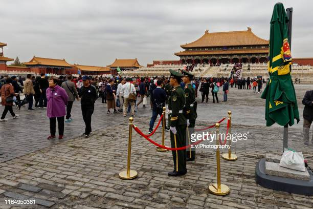 inner court of forbidden city. - andre vogelaere stock pictures, royalty-free photos & images