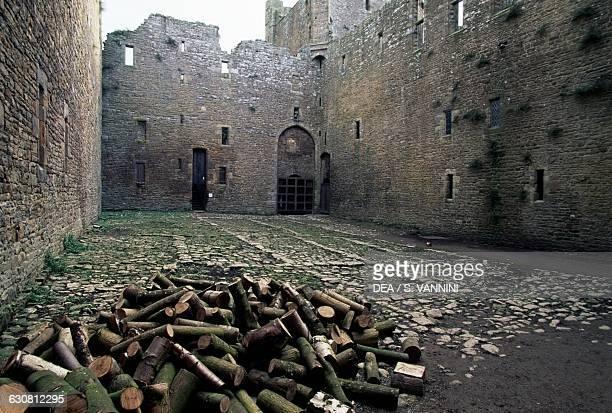Inner courtyard Bolton Castle near Leyburn North Yorkshire England United Kingdom 14th century