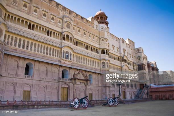Inner courtyard, Junagarh Fort, Bikaner, Rajasthan, India
