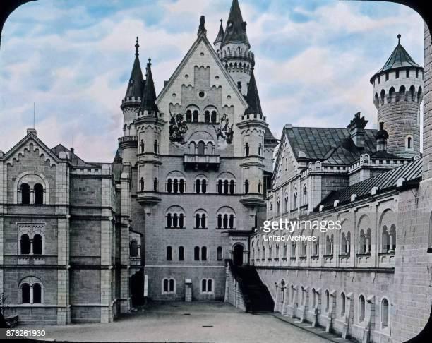 Inner courtyard of Neuschwanstein castle at Bavaria