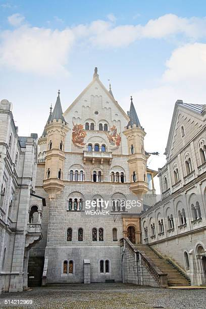 inner courtyard of neuschwanstein castle, bavaria, germany - neuschwanstein castle stock pictures, royalty-free photos & images