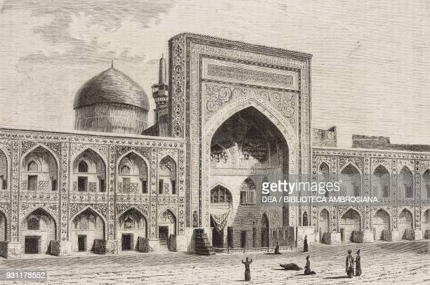 Inner courtyard of the Imam Reza shrine and mosque Mashhad Iran drawing by Alexandre de Bar from Narrative of a Journey into Khorasan by N de...