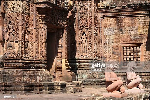 Inner enclosure of Banteay Srei Temple at Angkor