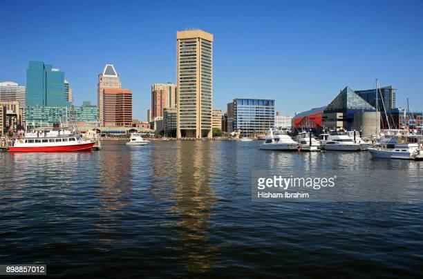 Inner Harbor and Baltimore Skyline, Baltimore, Maryland, USA