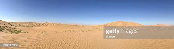 inner mongolia he lin dan way in the desert - 砂丘 ストックフォトと画像