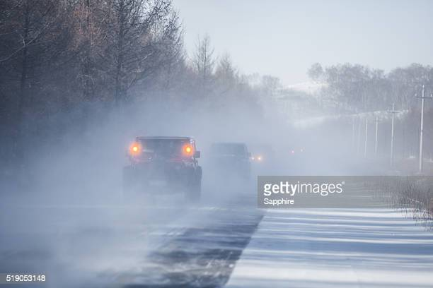 inner mongolia wulanbutong winter scene,china - motorcade stock pictures, royalty-free photos & images