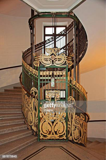 Inner view of the house in Köstlergasse with elevator Built by Otto Wagner Vienna 2013 Photograph by Gerhard Trumler