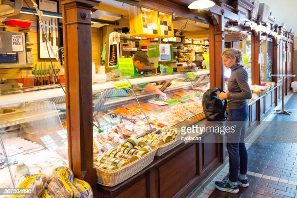 inner view of the old market kauppatori in helsinki - syolacan stock pictures, royalty-free photos & images