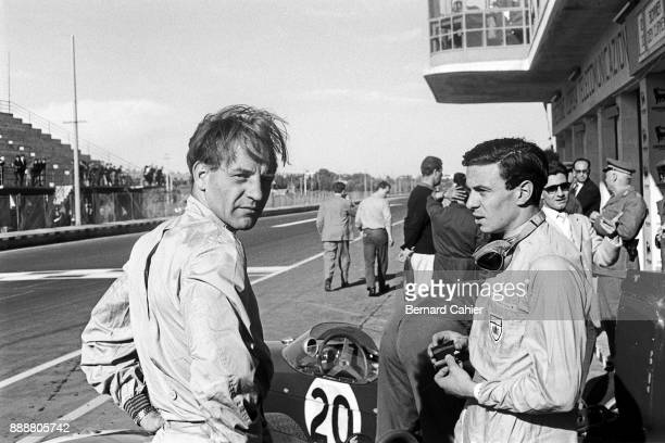 Innes Ireland Jim Clark LotusClimax 18 Grand Prix of Syracuse Syracuse 25 April 1961 Innes Ireland and Jim Clark during the 1961 Syracuse Grand Prix