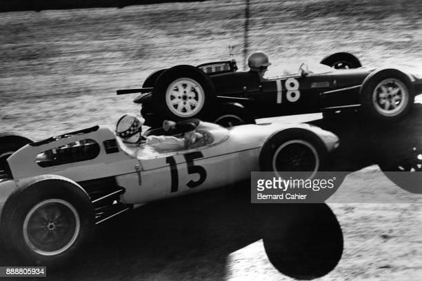 Innes Ireland Roy Salvatori LotusClimax 24 LolaClimax Mk4 Grand Prix of Mexico Autodromo Hermanos Rodriguez Magdalena Mixhuca 11 April 1962