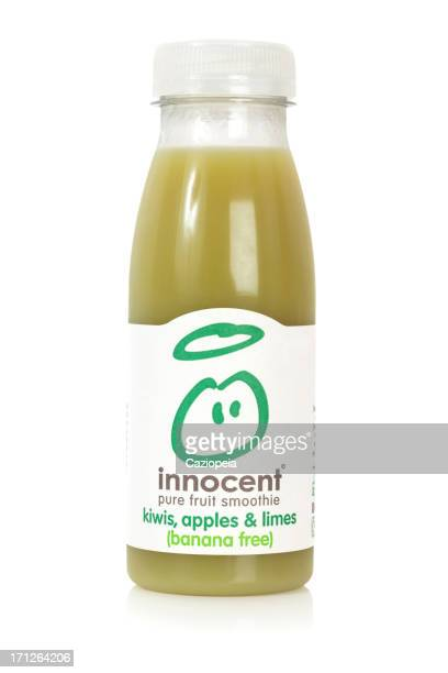 innocent pure fruit smoothie kiwis, apples & limes - purity stock pictures, royalty-free photos & images