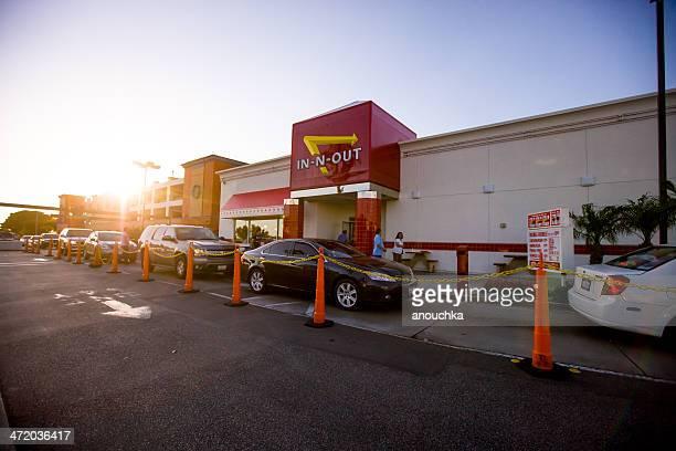 A-n-out Hamburger fast food all'aeroporto di Los Angeles