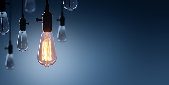 Innovation And Leadership Concept - Glowing Bulb lamp 689955934