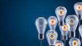 Innovation and new ideas lightbulb concept