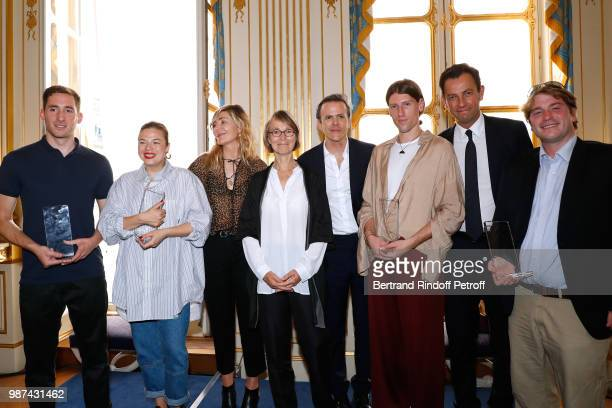 Innovation award Orr Yarkoni for Colorifix Fashion Accessories award Stephanie D'heygere for Heygere Founder of Andam Nathalie Dufour French Minister...
