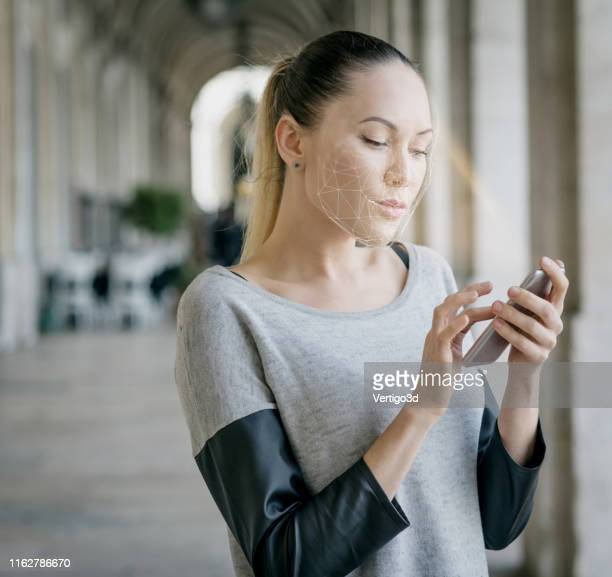 innovations and technology biometric verification and face detection - verification stock pictures, royalty-free photos & images