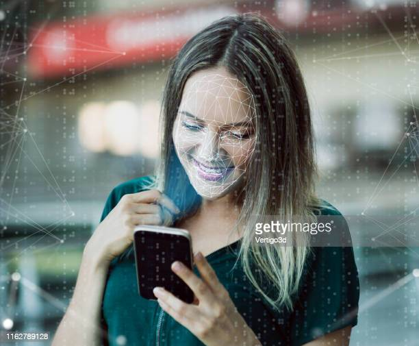 innovations and technology biometric verification and face detection - biometrics stock pictures, royalty-free photos & images