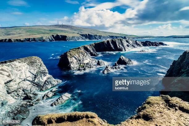inns holm, st ninian's isle, shetland islands, scotland - isole shetland foto e immagini stock