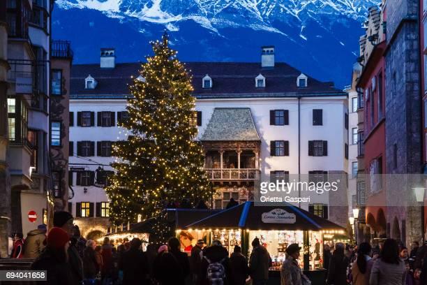 Innsbruck zu Weihnachten, Goldenes Dachl (Goldenes Dachl) - Österreich