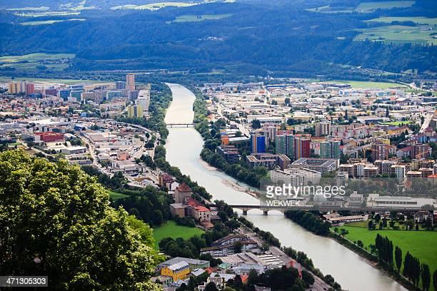 Innsbruck city scape in Tyrol, Austria