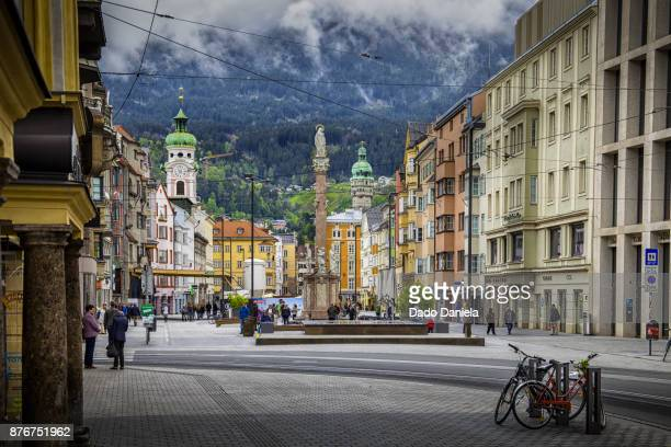 innsbruck town square - graz stock photos and pictures