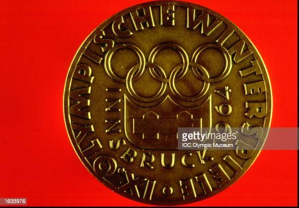 Innsbruck Winter Olympic Games Commemorative Medal The medal is in the IOC Olympic Museum in Lausanne Switzerland Mandatory Credit IOC Olympic Museum...